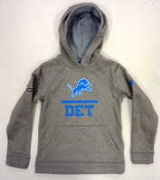Detroit Lions Youth Under Armour Grey Hoodie