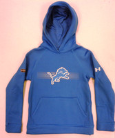 Detroit Lions Youth Under Armour Blue Hoodie