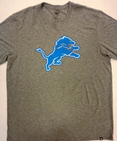 Detroit Lions Men's 47 Brand Heathered Grey Triblend Tshirt with Weathered Lion