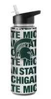 Michigan State University Boelter Brands NCAA Flip-Top Bottle with Straw (25 Oz.)