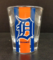 Detroit Tigers Boelter Brands Blue & Orange Striped 2 oz Shot Glass