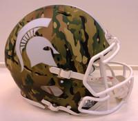 Michigan State University Riddell Full Size Camo Alternate Speed Authentic Helmet