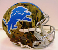 Detroit Lions Riddell Full Size Camo Alternate Speed Replica Helmet