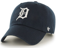 Detroit Tigers 47 Brand Blue Adjustable Clean Up Hat with White D