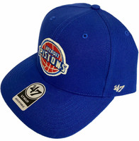 Detroit Pistons 47 Brand MVP Strapback Straight Bill Adjustable Hat Blue
