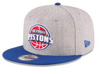Detroit Pistons New Era 2Tone Heather 9FIFTY Snapback