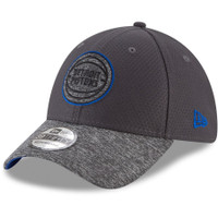 Detroit Pistons New Era Graphite Popped Shadow 39THIRTY Flex Hat