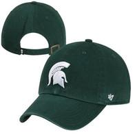 Michigan State University 47 Brand Dark Green Clean Up Adjustable Hat