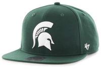Michigan State University 47 Brand Sure Shot Dark Green Adjustable Hat