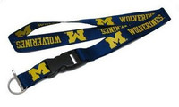 University of Michigan Aminco Navy Deluxe Lanyard