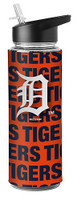 Detroit Tigers Boelter Brands MLB Flip-Top Bottle with Straw (25 Oz.)