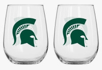 Michigan State University Boelter Brands 16oz Curved Beverage Glass Set - 2 Pack