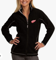 Detroit Red Wings Women's Antigua Ice Full Zip Jacket - Black