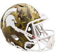Michigan State University Riddell Full Size Camo Alternate Speed Replica Helmet
