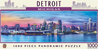 Detroit Michigan Skyline Masterpieces Inc. 1000-Piece Panoramic Puzzle