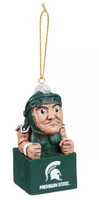 Michigan State University Team Sports America Tiki Totem Mascot Ornament