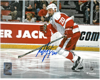 Martin Lapointe Autographed Detroit Red Wings 8x10 Photo #1 - Horizontal Action