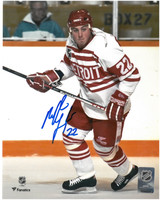 Martin Lapointe Autographed Detroit Red Wings 8x10 Photo #2 - Rookie Season