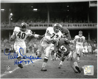 "Gale Sayers Autographed Chicago Bears 8x10 Photo w/ ""HOF 77"""