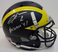 "Charles Woodson Autographed Schutt Authentic Matte Full Size University of Michigan Helmet w/ ""Heisman '97"""