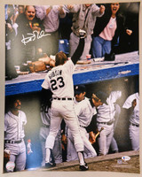 Kirk Gibson Autographed Detroit Tigers 16x20 Photo #1 - 1984 WS HR Dugout Celebration