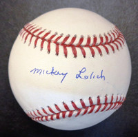 Mickey Lolich Autographed Official Major League Baseball