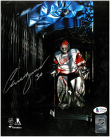 Chris Osgood Autographed Detroit Red Wings 8x10 Photo #3 - In The Shadows