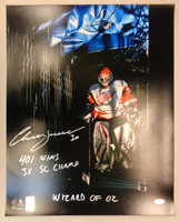 Chris Osgood Autographed Detroit Red Wings 16x20 Photo #2 - In The Shadows w/ 3 Inscriptions