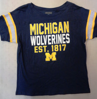 University of Michigan Women's 5th & Ocean Blue Est. 1817 Glitter T-shirt
