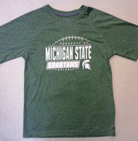 "Michigan State University Men's Champion Green ""Property Of"" Football T-shirt"