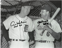 "Al Kaline & Stan Musial Autographed 11x14 Photo w/ ""HOF"" Inscriptions"