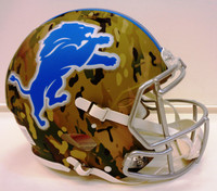 Barry Sanders Autographed Lions Full Size Camo Authentic Helmet (Pre-Order)
