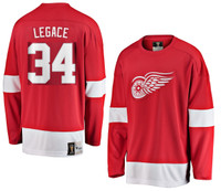 Manny Legace Autographed Detroit Red Wings Fanatics Vintage Red Jersey  (Pre-Order)