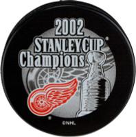 Manny Legace Autographed 2002 Stanley Cup Champions Souvenir Puck (Pre-Order)