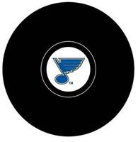 Manny Legace Autographed St Louis Blues Souvenir Puck  (Pre-Order)