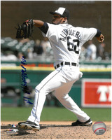 Al Alburquerque Autographed Detroit Tigers 8x10 Photo #4 (Full Name)