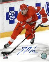 Jan Mursak Autographed Detroit Red Wings 8x10 Photo #1