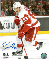Tomas Nosek Autographed Detroit Red Wings 8x10 Photo #1
