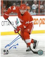 Gustav Nyquist Autographed Detroit Red Wings 8x10 Photo #4