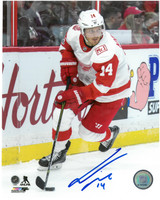 Gustav Nyquist Autographed Detroit Red Wings 8x10 Photo #5