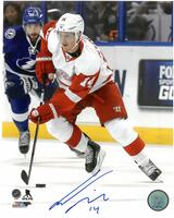 Gustav Nyquist Autographed Detroit Red Wings 8x10 Photo #6