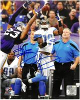 Titus Young Autographed Detroit Lions 8x10 #2