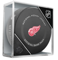 Thomas Greiss Autographed Detroit Red Wings Game Puck  (Pre-Order)