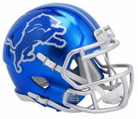 Detroit Lions Riddell Flash Full Size Speed Authentic Helmet