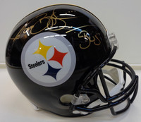 "Jerome Bettis Autographed Pittsburgh Steelers Replica Helmet inscribed ""Bus"""