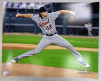 Casey Mize Autographed 16x20 #1 - MLB Debut Horizontal (Pre-Order)