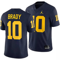 Tom Brady University of Michigan Jumpman Football Jersey