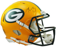 Aaron Rodgers Autographed Green Bay Packers Riddell Full Size Authentic Speed Football Helmet (Pre-Order)
