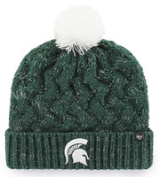 Michigan State Spartans Women's 47 Brand Logo Dark Green Fiona Cuff Knit Hat