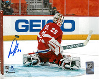 Thomas Greiss Autographed Detroit Red Wings 8x10 Photo #1
